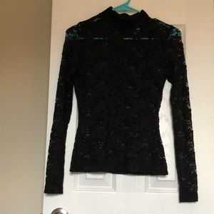 See through long sleeve shirt